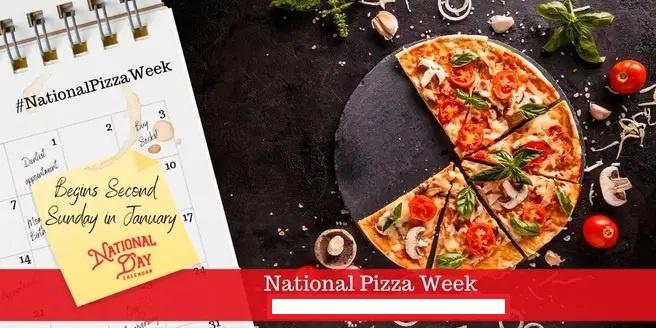La semana nacional de la pizza calendario okey
